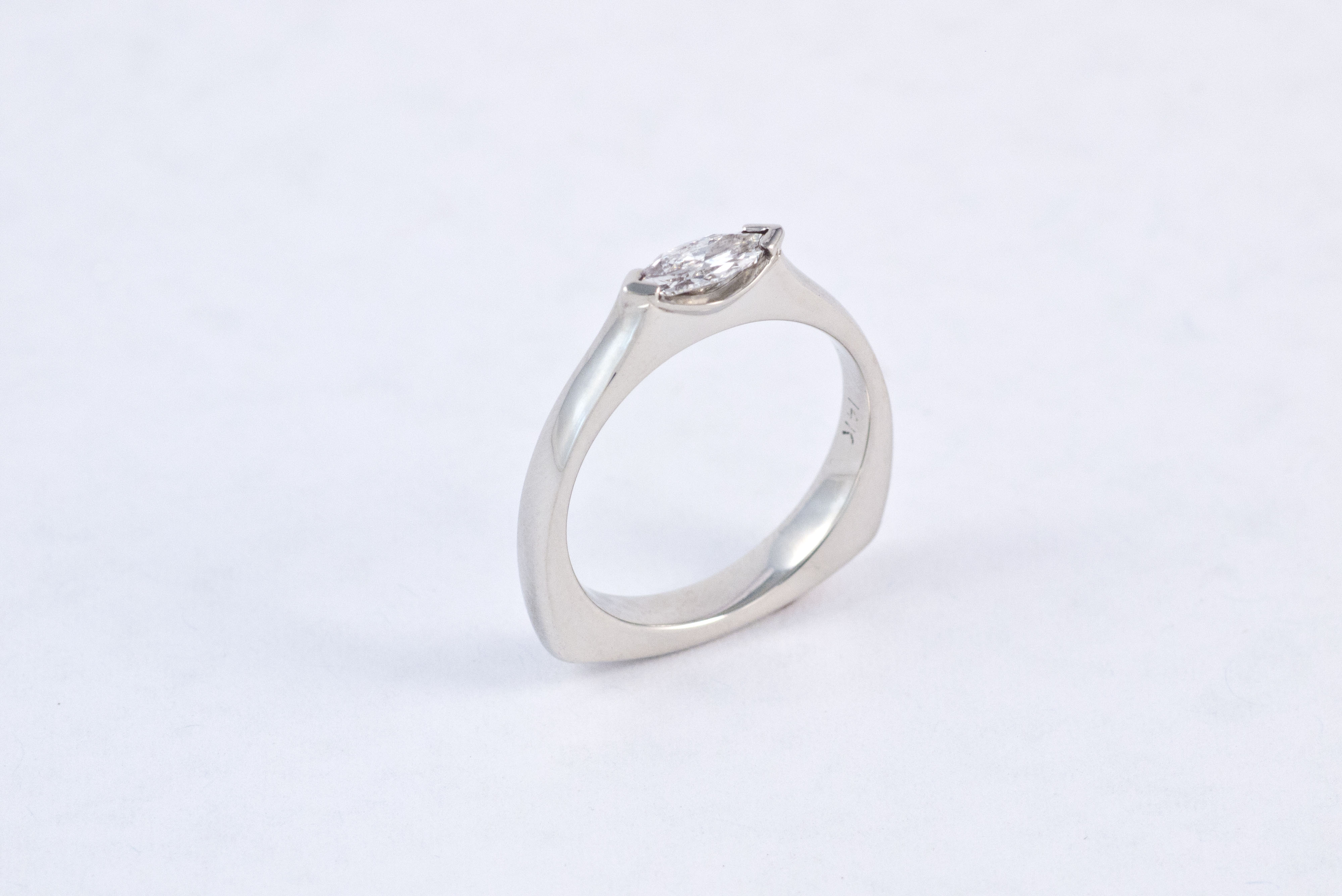 14k White Gold and diamond