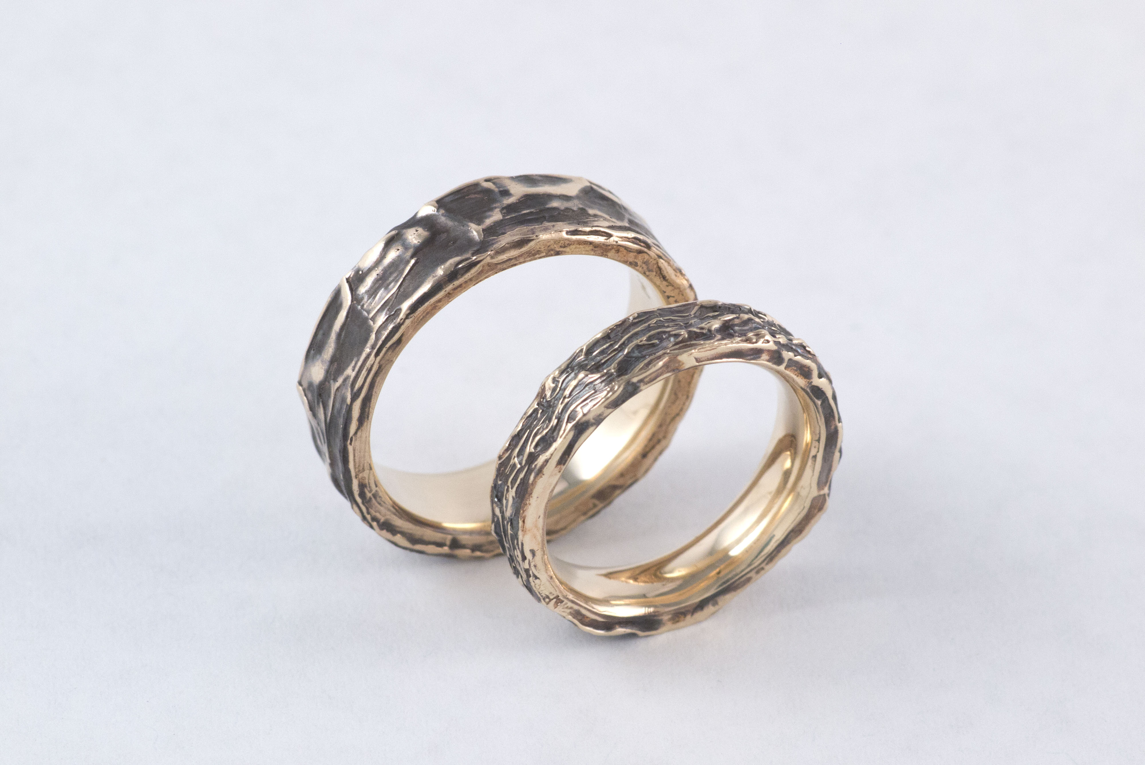14k Yellow gold wedding rings, wedding bands